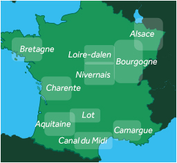 Le Boat cruising regions in France